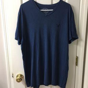 Men's Navy Blue American Eagle T-Shirt XL